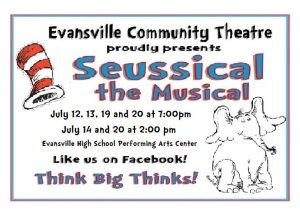 Seussical Promo Single Show Flyer